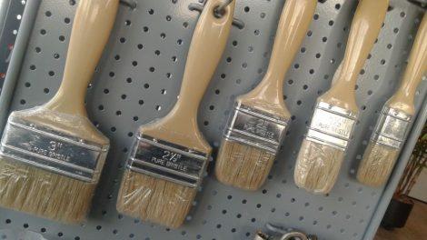 "2""White Bristle Laminating Brush with plastic handle (PHB20)(*WLB20)"