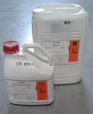 SR 5550 epoxy resin, UV stabilized + SD 5504 hardener (1+0,3kg)