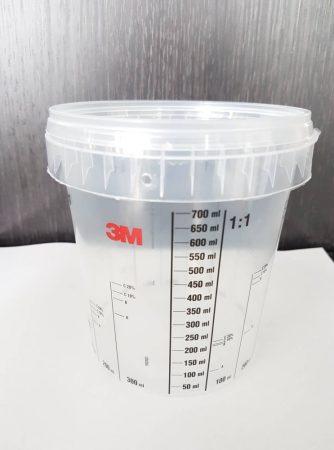 3M skálázott keverőedény tetővel 870ml (700ml)