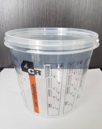 4CR 7700 ÚJ Keverőedény skálázott 1,4L  tetővel  200db/doboz
