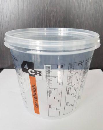 4CR skálázott keverőedény tetővel 1400ml (1100ml)