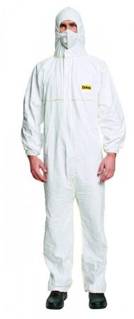 Overall fehér, L méret (DuPont CHF5)