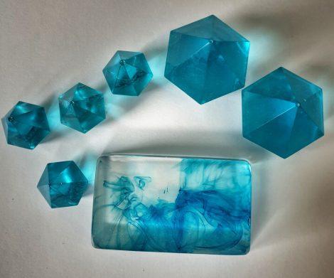 Víztiszta öntőgyantához átlátszó színezék, türkiz, SC Clear Color (125 ml)