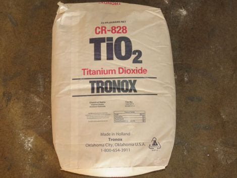 Titándioxid (Tronox CR-828) (TiO2 rutil) 25 kg.