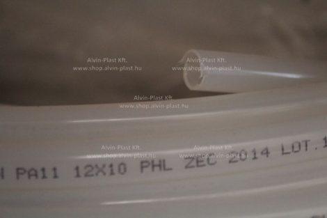 Vákuum gyantabevezető cső  - PA, natúr, TRN 12×10 (ZEC) (4020)